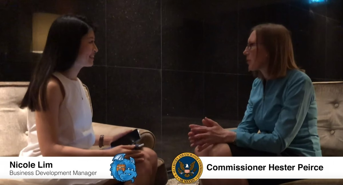 Exclusive interview with Commissioner Hester Peirce from the U S
